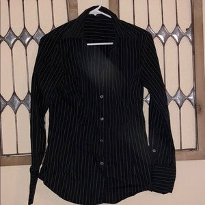 Tops - Fitted Pin Stripe Button down